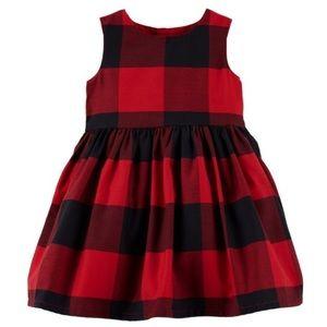 Carter's Buffalo Red Plaid Dress